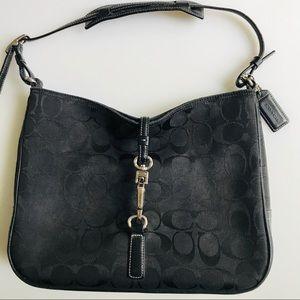 Coach Black Monogram Bag